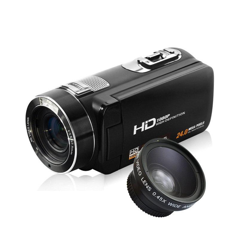 New 1080P HD Digital Video Camera Camcorder 24MP 16x Digital Zoom with Digital Rotation LCD Touch Screen Camcorder