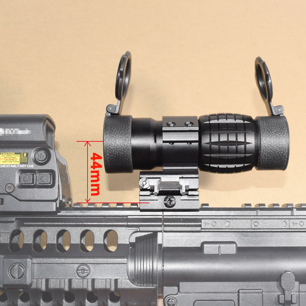 Tactical 3X Magnifier Scope Optics Scopes Riflescope Fits Aimpoint Sight with Flip UP Flip-UP Mount Side Picatinny Weaver Rail tactical red dot sight scope 3x magnifier side flip mount for picatinny rial mount base rbo bk m7467