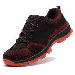 Для мужчин дышащие Сталь носком Кепки Рабочая безопасная обувь Для мужчин открытый против скольжения Сталь проколов строительные