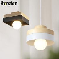 Horsten Modern Nordic Solid Wood Pendant Lights Minimalism Pendant Lamp For Dinning Room Living Room Bar