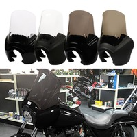 Headlight Front Fairing Cover with 15'' Clear/Smoke Windshield For Harley Dyna Wide Glide FXDXT T Sport 2006 2017