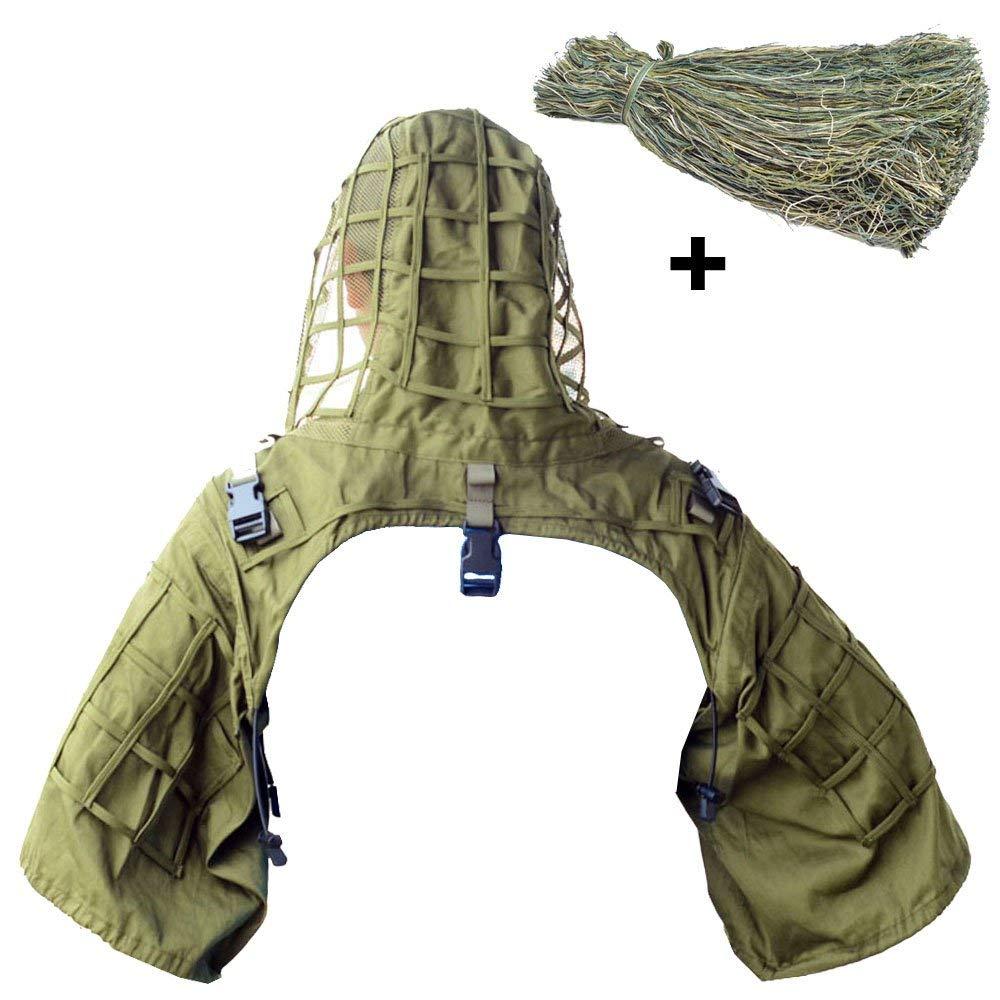 Sniper Ghillie base de costume Viper capuche + 1 sac Ghillie fil pour construire votre propre costume Ghillie