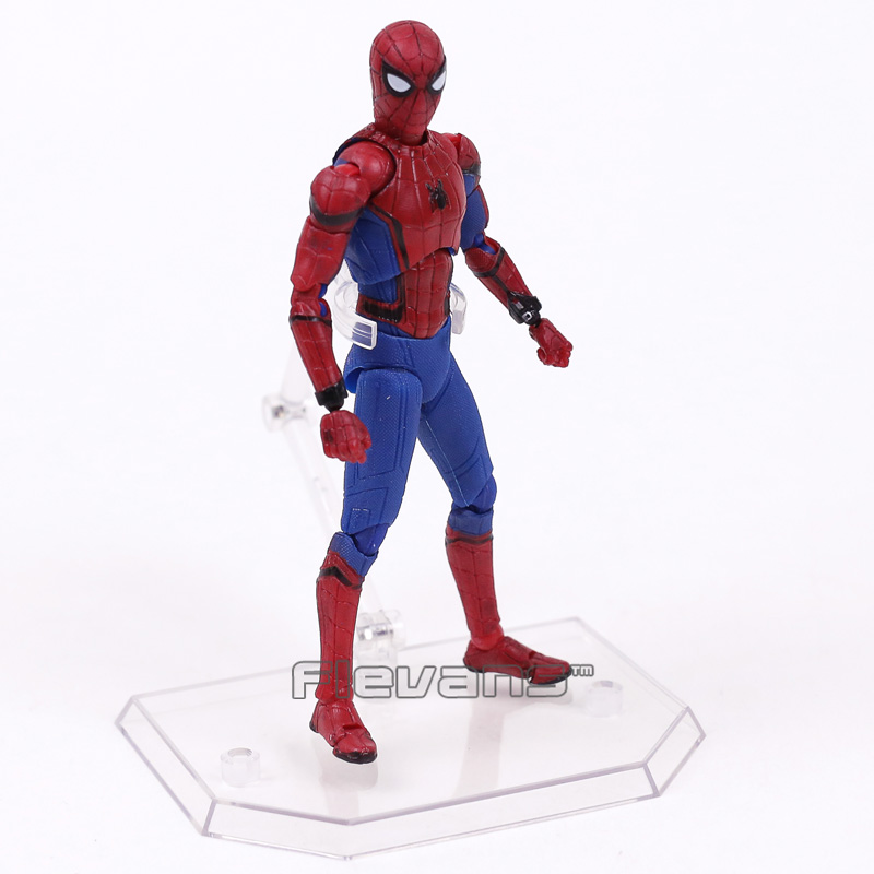 Image 3 - Mafex 047 Spider Man Homecoming Spiderman PVC Action Figure Collectible Model Toy 14cmmodel toyfigures collectiblespvc action figure -