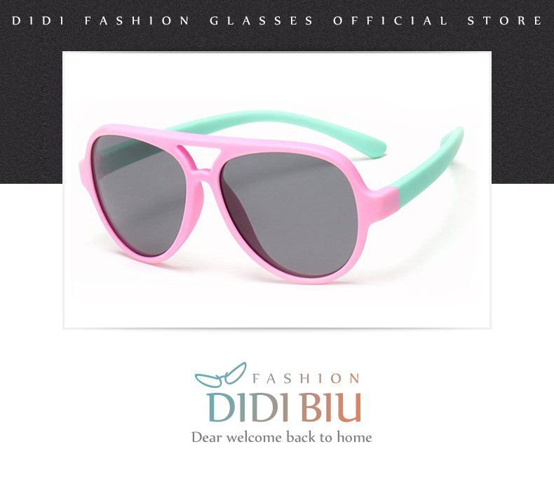5a1fe68e6e Gafas de sol polarizadas de titanio TR90 para niños, gafas de sol flexibles  de silicona para bebés, gafas para niños rosadas, verdes, infantiles C712