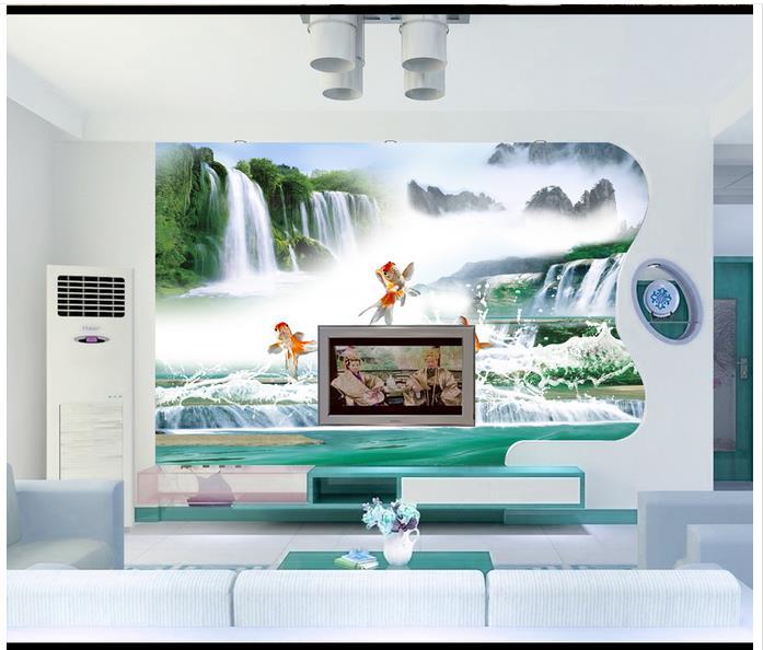 ᗑHigh end custom 3d photo wallpaper murals wall paper Goldfish ...
