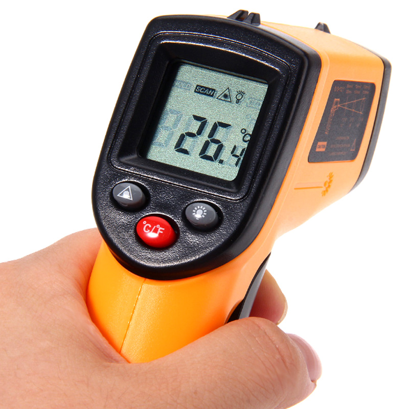 New Digital Infrared Thermometer Professional Non-contact Temperature Tester IR Temperature Laser Gun Device Range -50 to 380C
