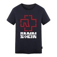 Rammstein Rock Heavy Metal Mens T Shirts Cotton Short Sleeve T Shirt Printed T Shirts O