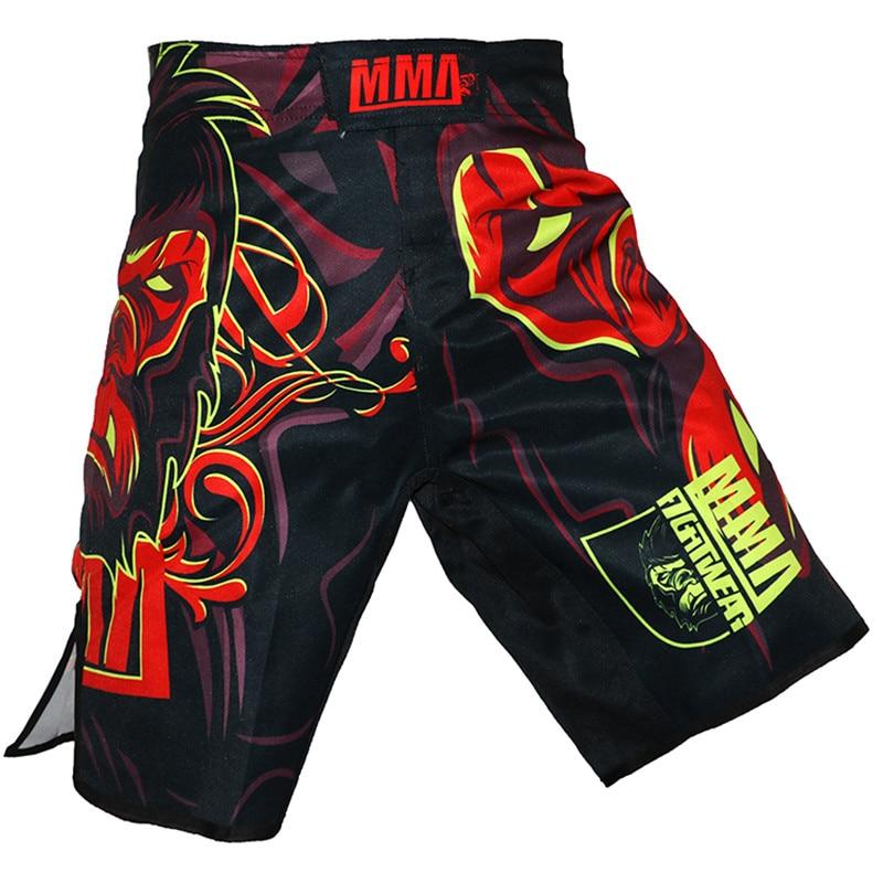 2018 New Men Shorts Polyester Asura Shorts MMA Fight UFC Synthetic Fighting Fitness Muay Thai Sanda Kickboxing