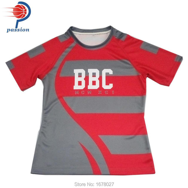 mens rugby league jersey custom team set sublimation polyester rugby jersey 5be252878