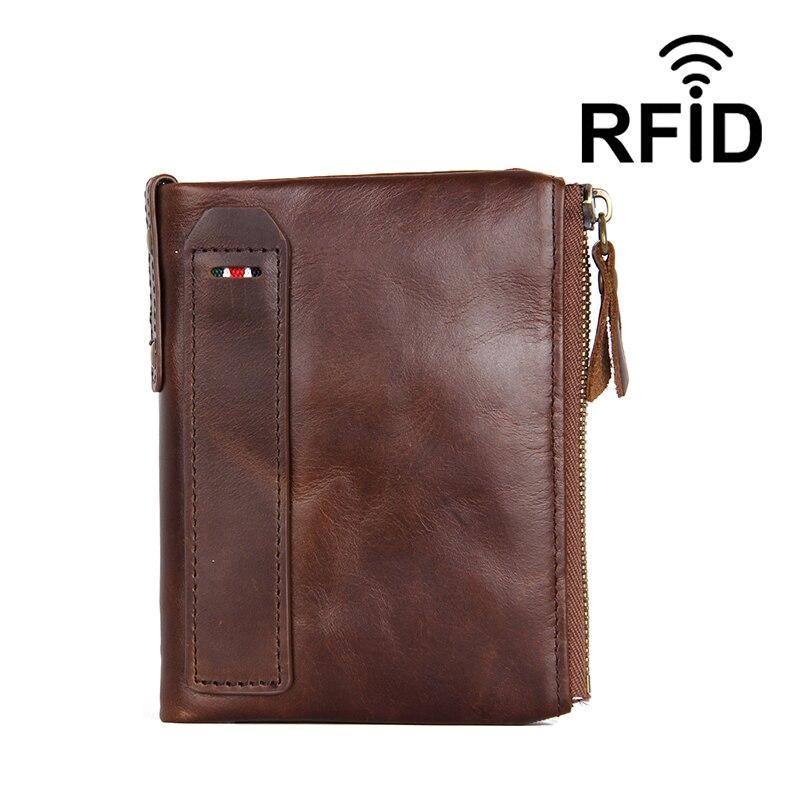 2019 marque vrai cuir de vache meilleure qualité RFID blocage hommes portefeuilles sac à main homme court embrayage porte-carte hommes monnaie sac
