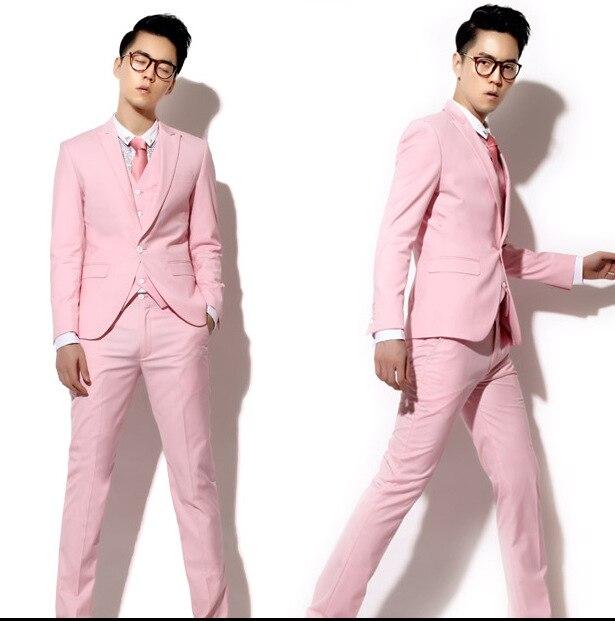 Online Shop The latest men's suit pink fresh grade leisure suit ...