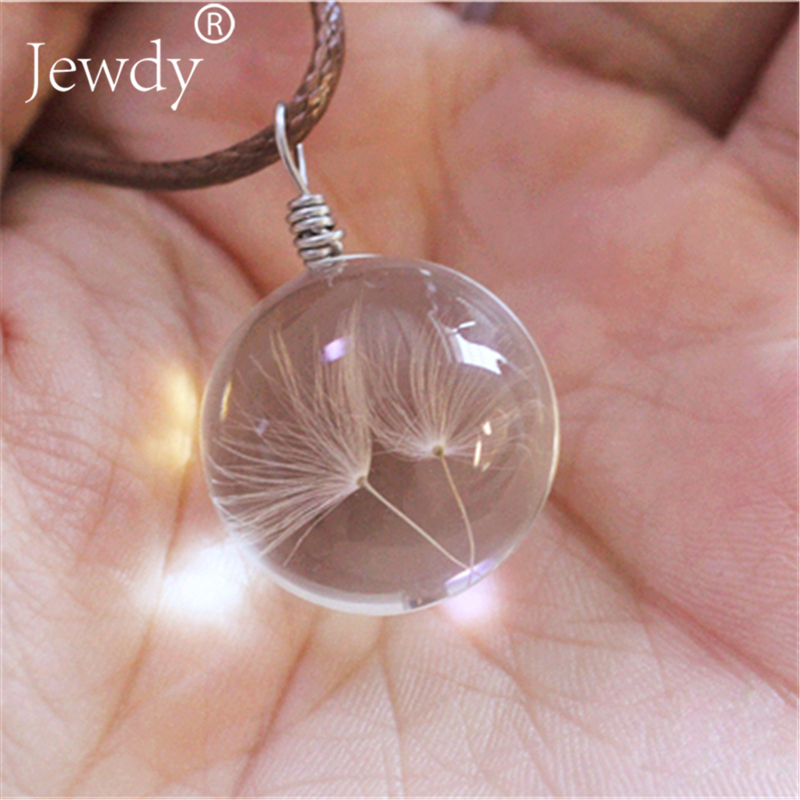 2018 flower dandelion necklace make one wish real