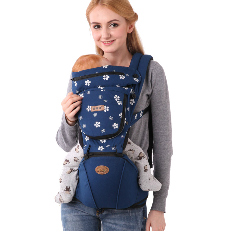 Hot Selling Baby Belt  Breathable Soft Backpack Baby Hipseat Belt Sling Kids Infant Children Carrier Double-shoulder Carrier Bag baby carrier new design kids waist stool walkers baby sling hold waist belt backpack hipseat belt kids infant hip seat zl438