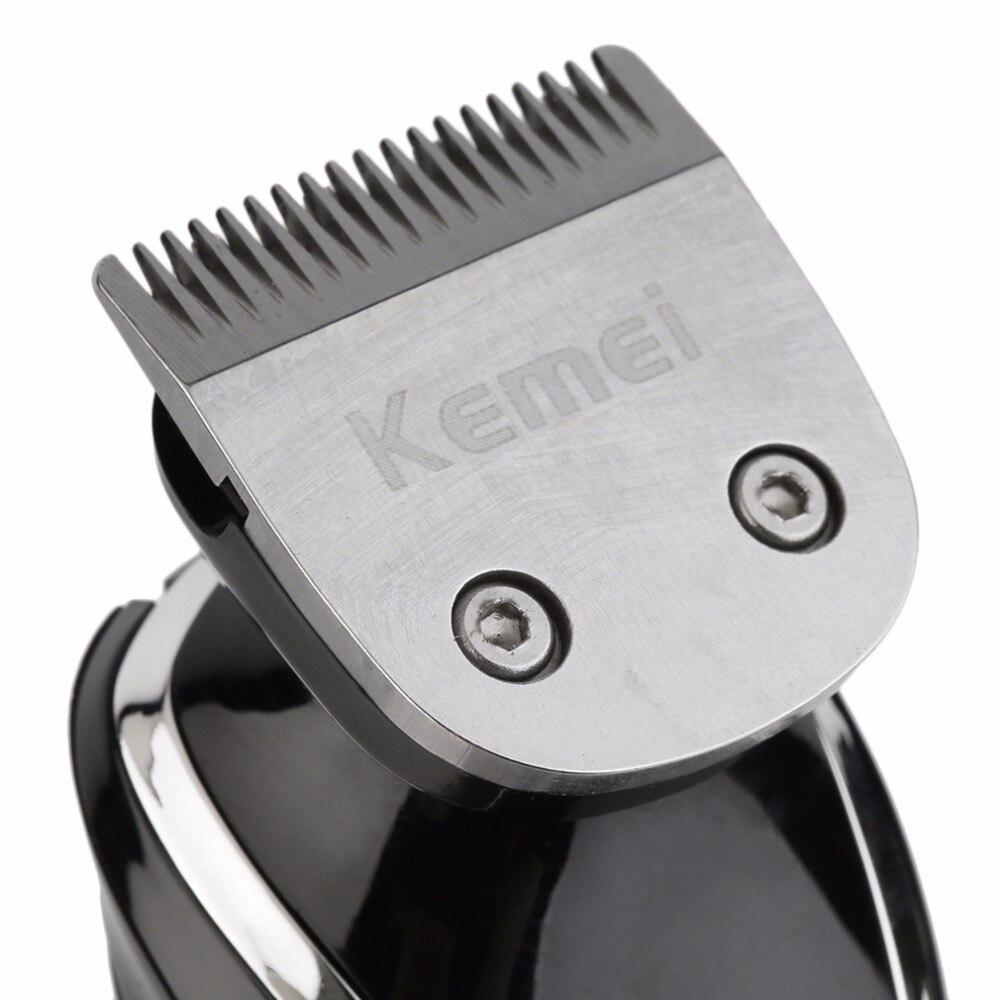 Rasoir électrique sans fil Rechargeable Durable hommes tondeuse lavable faciale Double pour feuille de bord 220 V EU Plug Double lame - 5
