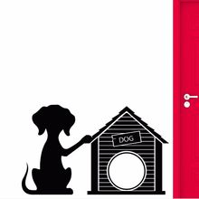 Vinyl Wall Decal Dog Puppy Pet Wall Sticker Home Decoration Doghouse Pet Shop Wall Vinyl Sticker Dogs Salon Wall Mural AY0262