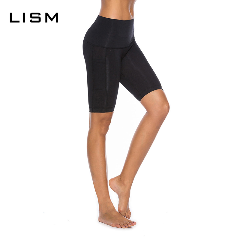 Knee Length Yoga Shorts Women Shorts Elastic Quick Dry