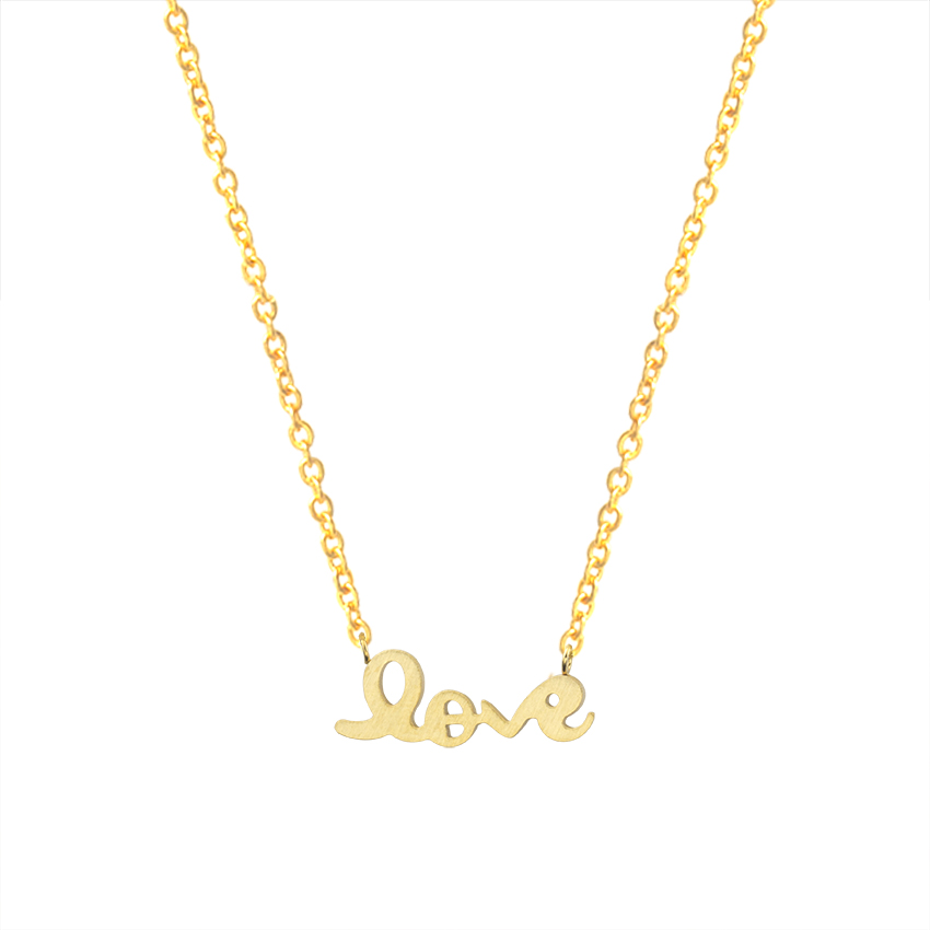 Charm Necklace Romantic Gifts For Her Gold Chain Pendant