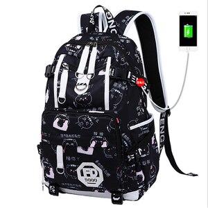 Image 1 - Fashion Backpack Waterproof Nylon Women Backpack Unisex Laptop Antitheft Design Teenage Girl Female School Backapck Mochilas