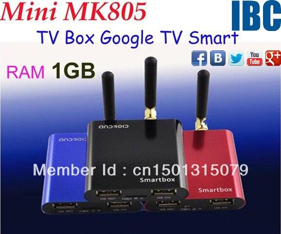 Mini MK805 Allwinner A10 Android 4.0 RAM 1GB ROM 4GB Google TV Smart Android Box