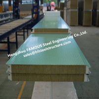 PU/ Mineral Fiber Foamed Metal Core Insulated Panel For Building Interior Partition Functions