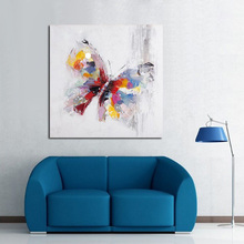 Beauty Colorful Butterfly Wall Picture Big Size Art Wall Decor Free Shipping Canvas Painting For Sales