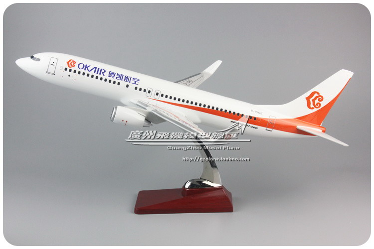 47cm Resin OK Air Airlines Airplane Model Boeing 737-800 Aircraft Model B737-800 Airways Airbus Model B-1962 Aviation Model Toys inflight china southern airlines b 5157 1 400 b737 800 commercial jetliners plane model hobby
