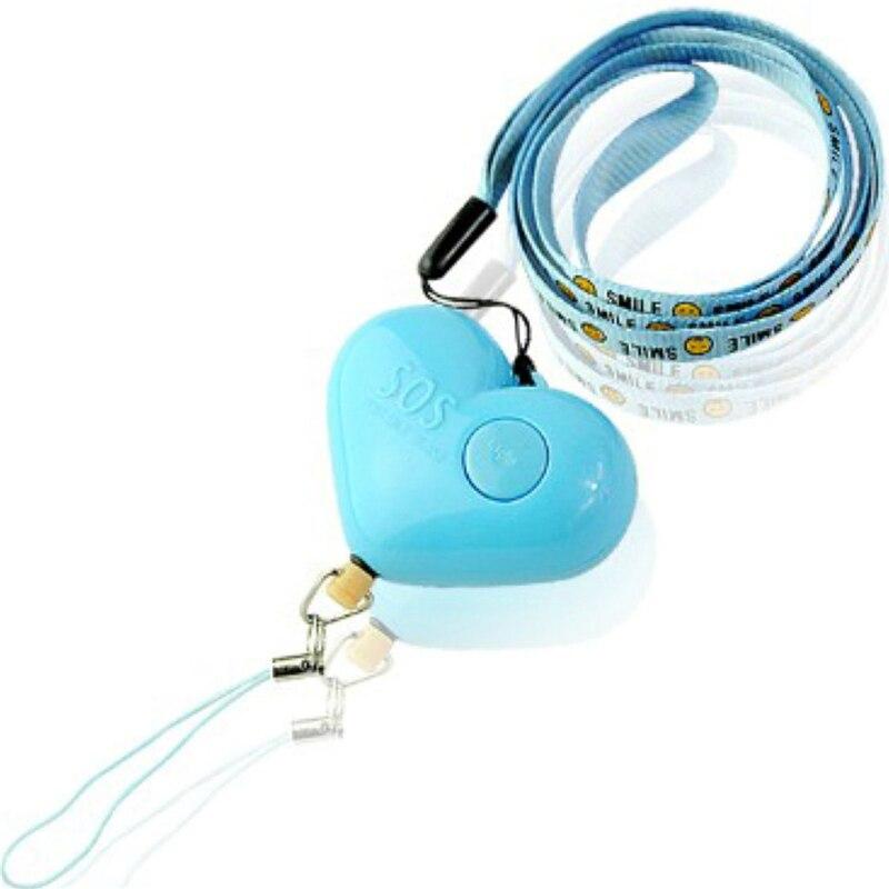 Новый милое в форме сердечек Самозащита сигнализация портативный громкий брелок защита безопасности анти-карманная сигнализация для личн...