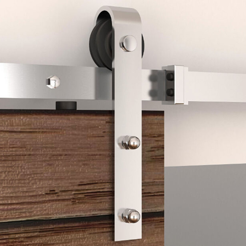 KIN FAIT MM20DSS piste Plate en acier inoxydable grange quincaillerie de porte en bois porte coulissante système 6ft/6.6ft