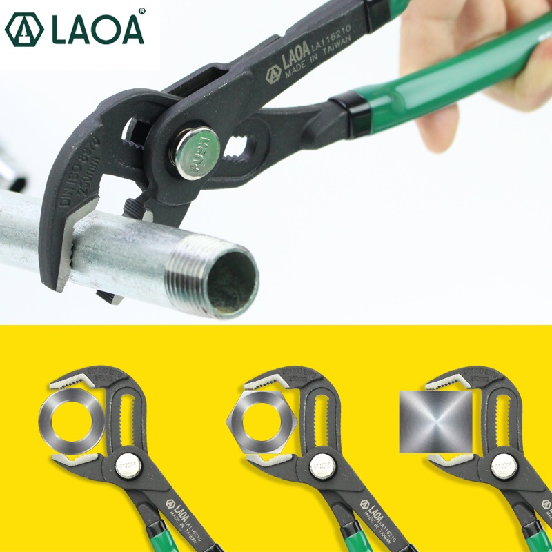 цена на LAOA Water Pump Pliers CR-MO Steel Pipe Wrench Adjustable Plumbing Repair Grip Pipe Hand Tools.