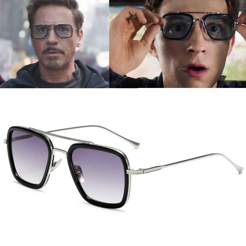 SpiderMan Tony Stark Glasses Edith cosplay Prop Spider-Man Far From Home Peter Parker Sunglasses Iron Man Sun Glasses Man
