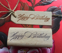 Handmade Happy Birthday Letter 6 2 5cm Wooden Rubber Stamps For Scrapbooking Carimbo Timbri Christmas Stamps