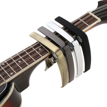 Zinc Alloy Guitar Capo Tune Clamp Key Trigger Nail Pin Puller for Guitar Bass Banjo Ukulele Parts imiracle high quality zinc alloy construction and silicon padding capo with bridge pin remover fit for guitar or ukulele