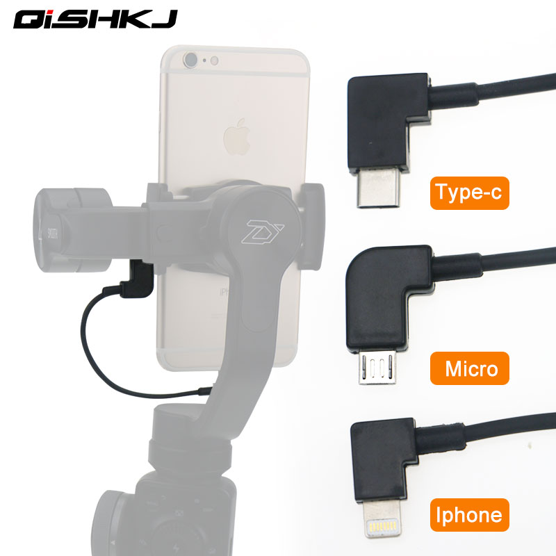 Gimbal Charging Cable For Lightning Type C Micro-USB For Zhiyun Smooth 4 3 Q Feiyutech Vimble 2 Android Samsung IPhone Cable