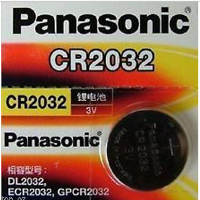 panasonic cr 2032 3v  1pcs Original PANASONIC CR2032 2032 3V High Performance Button ...