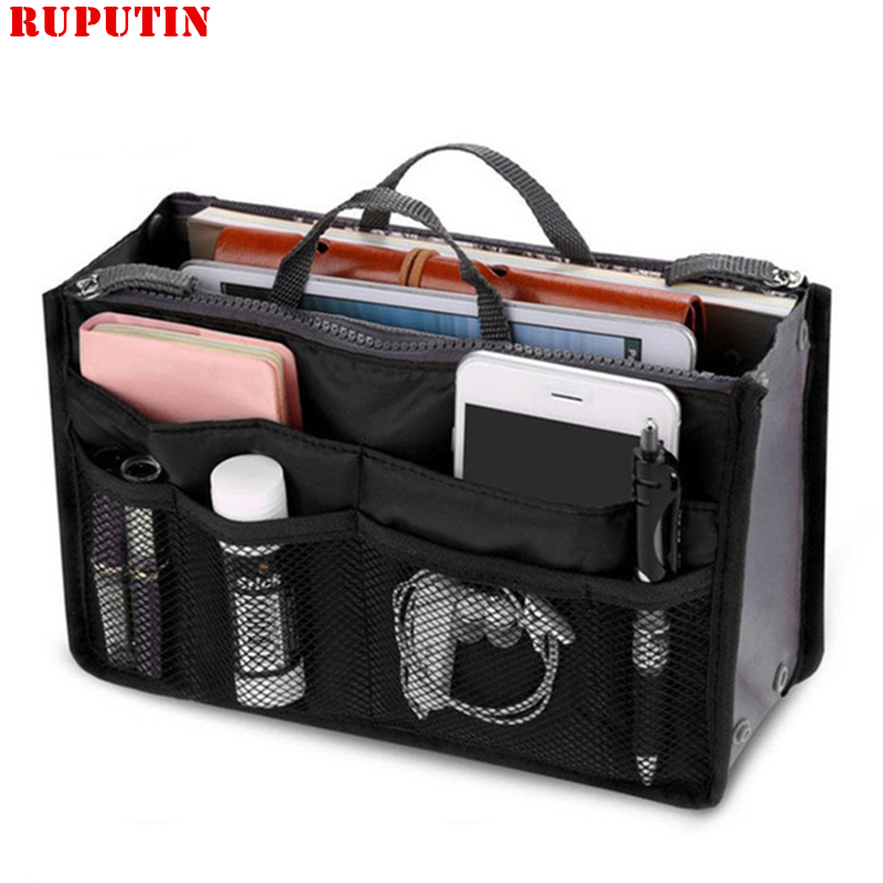 RUPUTIN Hot Cosmetic Bag Package Inside The Package Lady Makeup Purse Handbag Organizer High Capacity Women Liner Cosmetic Cases