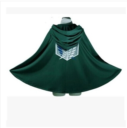 Fashion Anime no Kyojin Cloak Cape Clothes Cosplay Costume Fantasia Attack on Titan Plus Free shipping(China)