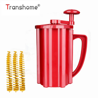 Transhome Popular Potato Slicer Manual Twist Spiral Potato Cutter Whirlwind Potatoes Machine Potato Vegetables Tools