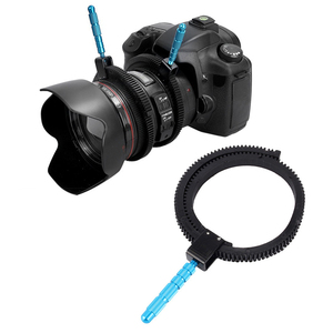 Image 1 - For SLR DSLR Camera Accessories Adjustable Rubber Follow  Gear Ring Belt with Aluminum Alloy Grip for DSLR Camcorder Camera