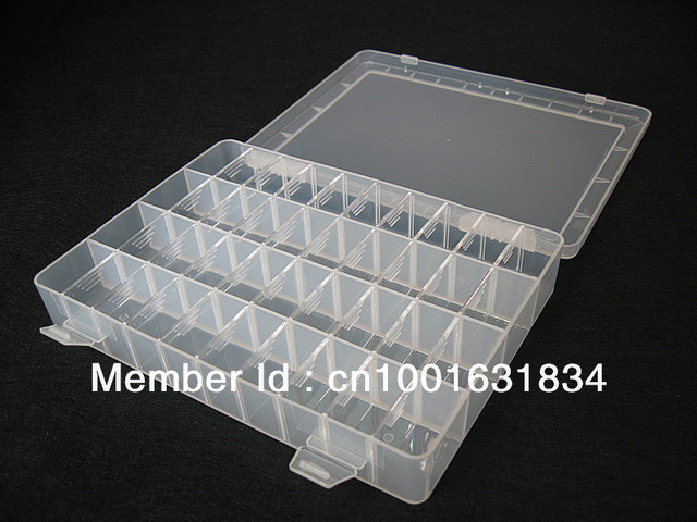New Removable Dividers 40 Compartment Plastic Storage Box for Small