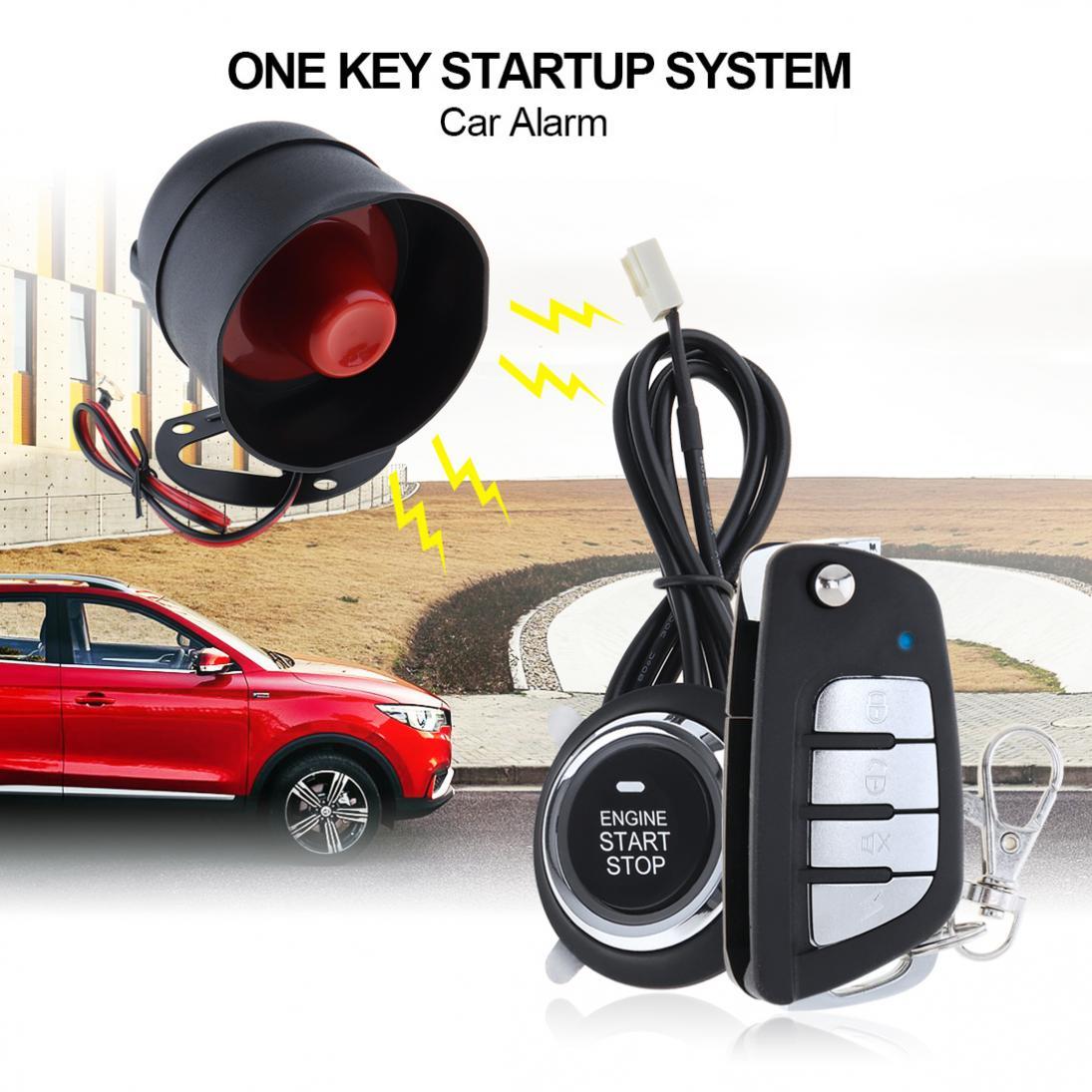 Système D'alarme De Voiture universel 12 v Auto À Distance Start Stop Moteur Système avec Auto Verrouillage Central et Sans Clé D'entrée 5A avec Clé 3