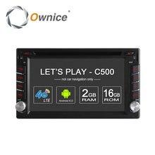 Ownice C500 Универсальный 2 din Android 6.0 Quad Core Автомобильный DVD плеер GPS Wi-Fi Bluetooth Радио BT 2 ГБ RAM 4 Г SIM LTE сети(China (Mainland))