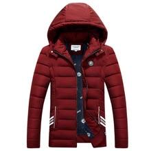 2016 3 Color Men's Winter Jacket Men Hooded Wadded Thicken Winter Coat Men Casual Slim Pure Color Outwear Brand Parka Men