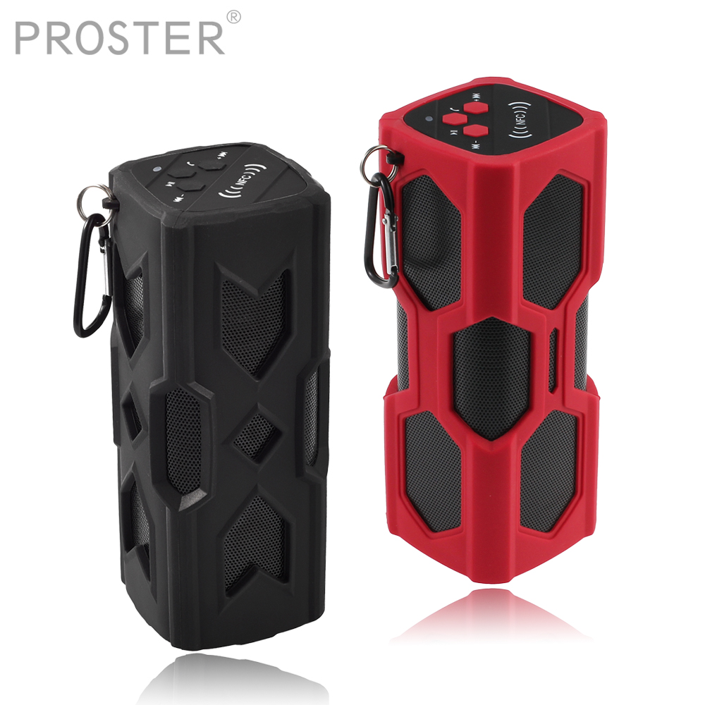 PROSTER for Portable Bluetooth Speaker 3600mah Power Bank NFC waterproof HiFi Sound Output Built In Microphone 3.5mm Audio Cable