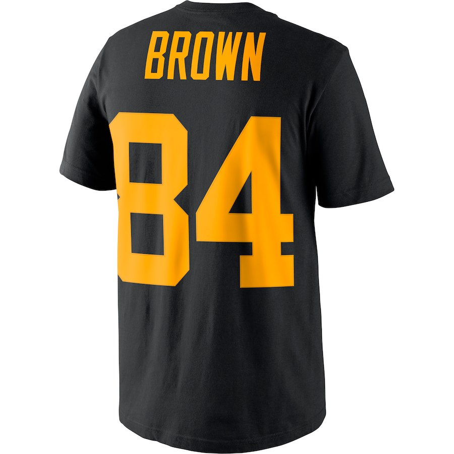 free shipping 754b1 196b2 VZ VARE ZANE Official Men's Pittsburgh Antonio Brown T Shirt ...