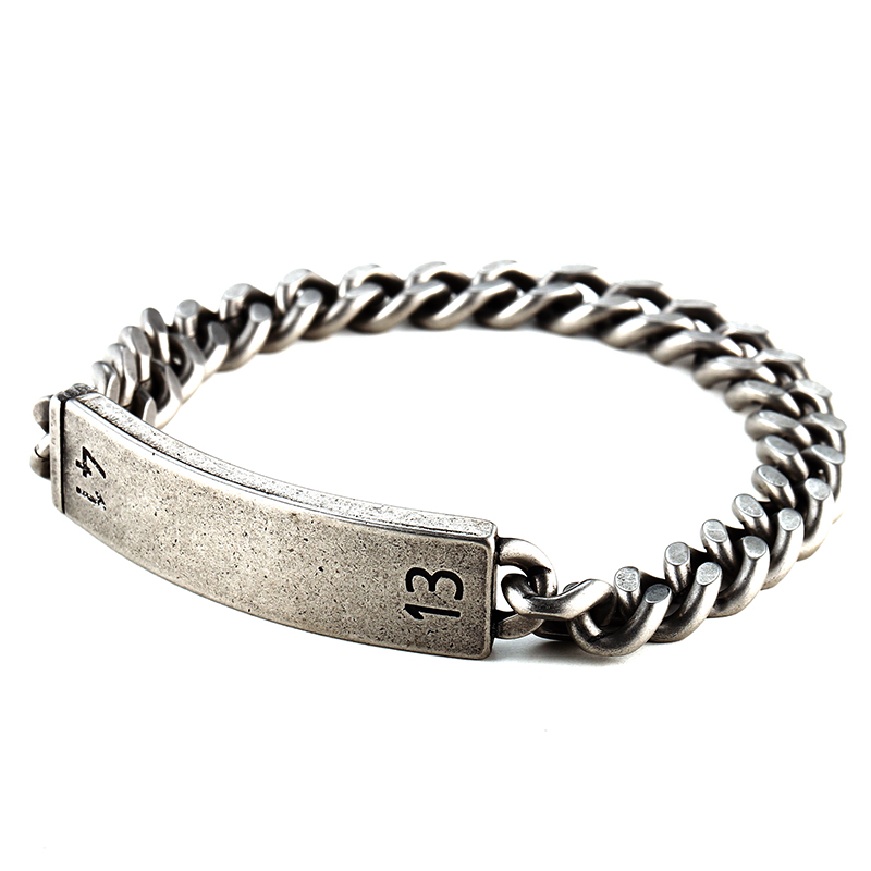 Men Antique Link & Chain Bracelets Bangles Stainless Steel Element Punk Style Faceted Desgin Mela Mens Chain Bracelets Jewelry  - buy with discount