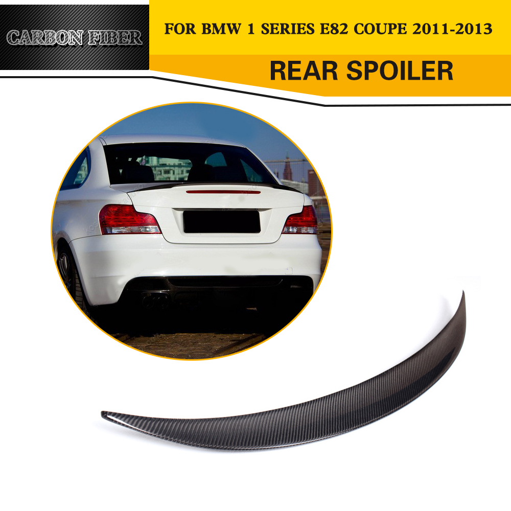 Carbon fiber car styling rear wing lip spoile for bmw 1 series e82 128i 2008 2011