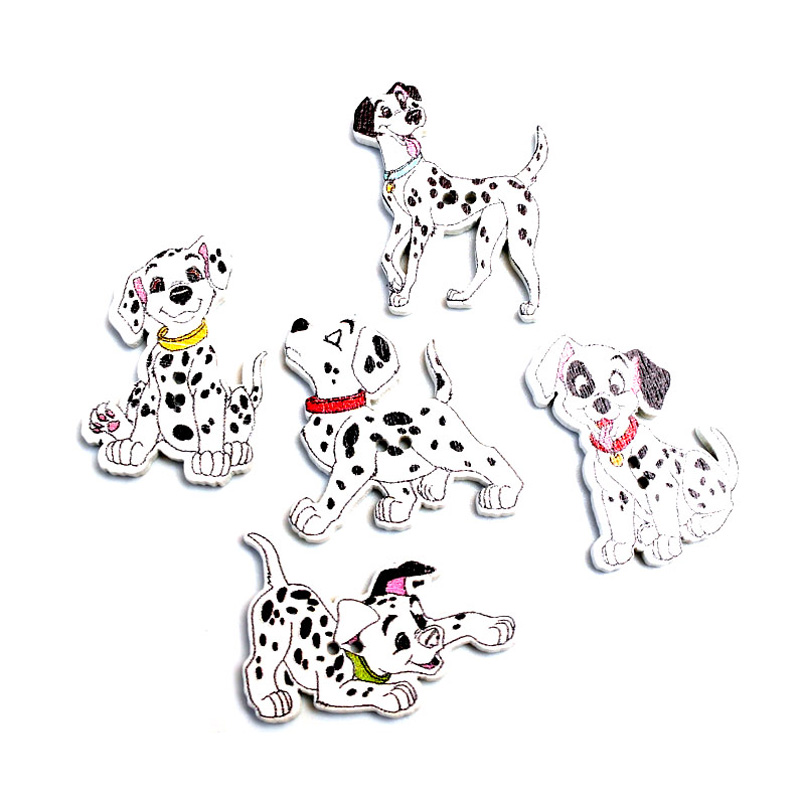 Mixed Spotted Dog Shape Wooden Buttons Fit sewing Kid/'s Crafts Scrapbooking