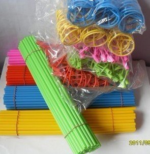 free shipping foil  balloon sticks and cups / foil balloons special sticks and cups(stick and cup for a set) long 40 cm