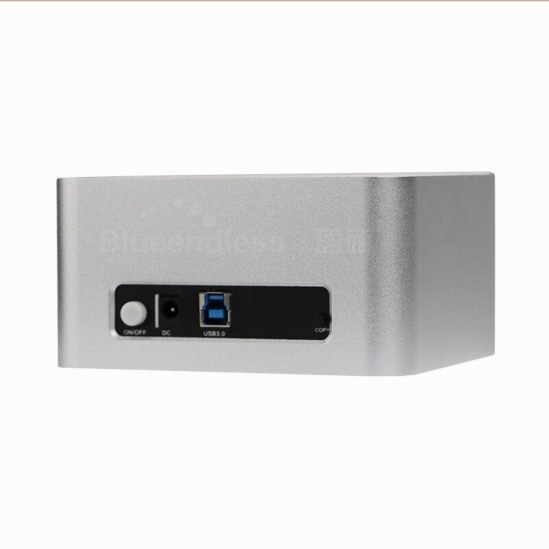 Prix pour 3 pcs/lot 2 bay station d'accueil hdd ssd 2.5 ''3.5 pouce double bay HDD SSD par slot usb 3.0 sata dock hdd de stockage caddy cas