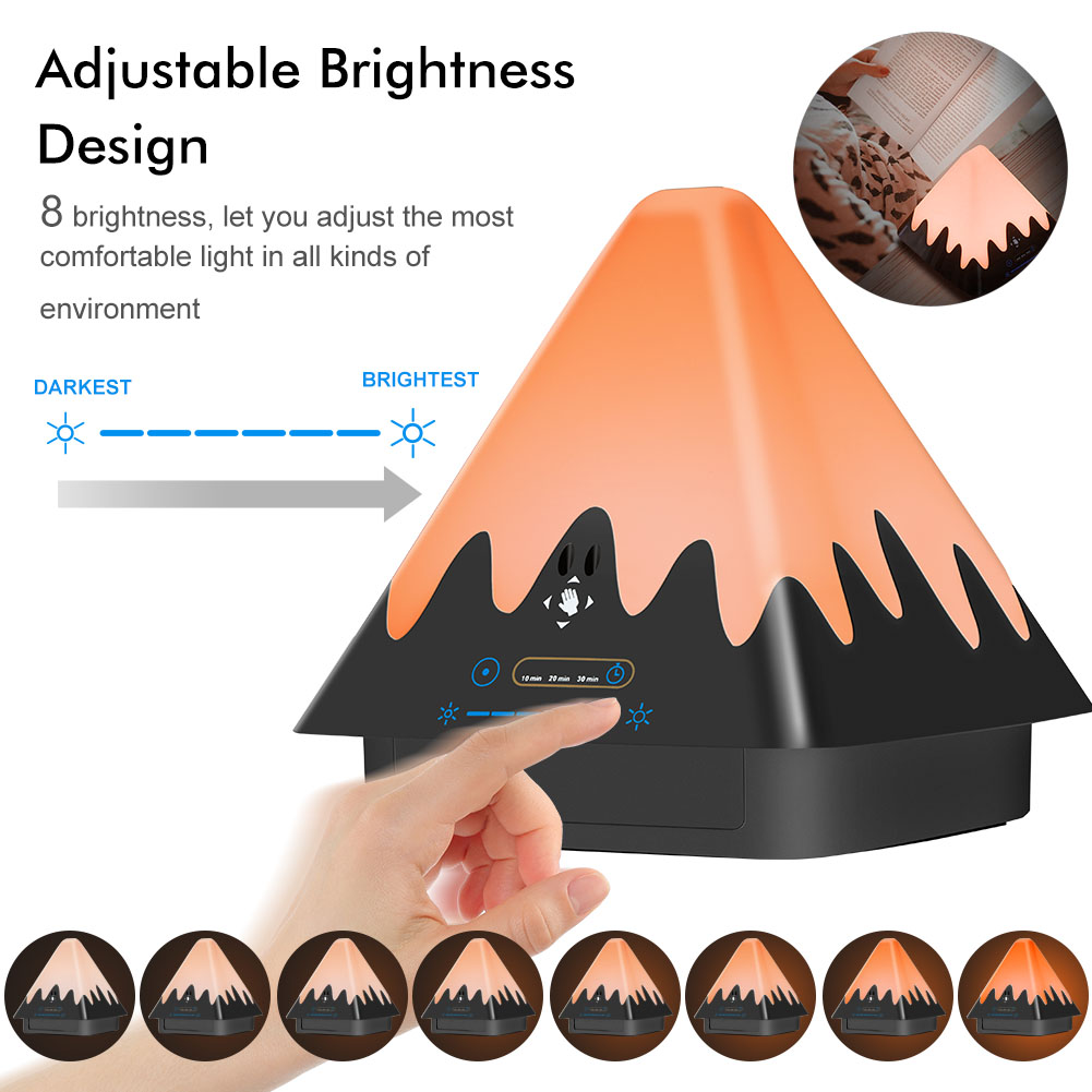 Creative Smart Night Light Rechargeable Reading Desk Lamp Timer Snowberg Dimmable Atmosphere Lights For Baby Bedroom CLH